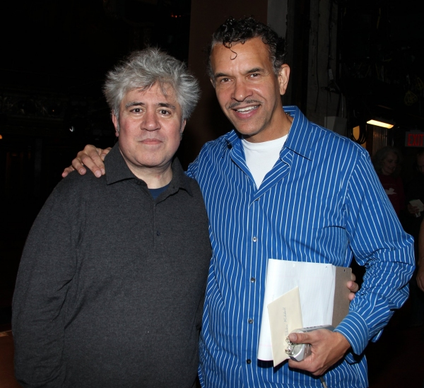 Pedro Almodovar & Brian Stokes Mitchell  at Gypsy Robe Ceremony for WOMEN ON THE VERGE OF A NERVOUS BREAKDOWN