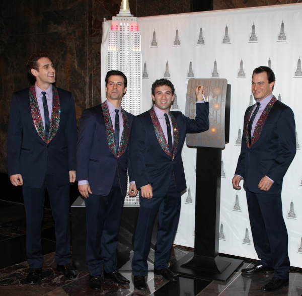 Photo Coverage: JERSEY BOYS Lighting Ceremony at the Empire State Building