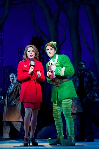 Emily Hsu and Sebastian Arcelus at ELF on Broadway - First Production Shots!