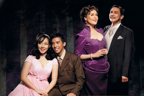 Cris Villonco, Felix Rivera, Dawn Zulueta, Noni Buencamino at A LITTLE NIGHT MUSIC Transfers to Singapore, 11/9 to 11/14