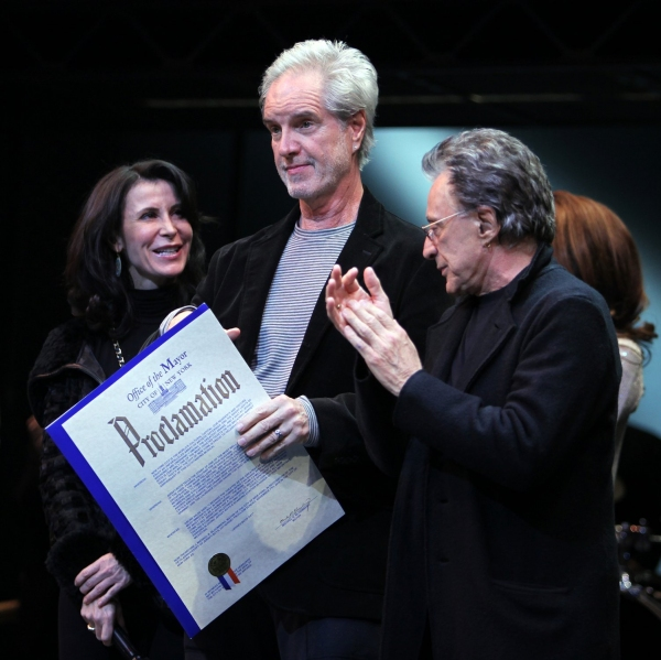 Frankie Valli & Bob Gaudio with Commissioner Katherine Oliver at JERSEY BOYS Receives a Mayoral Proclamation