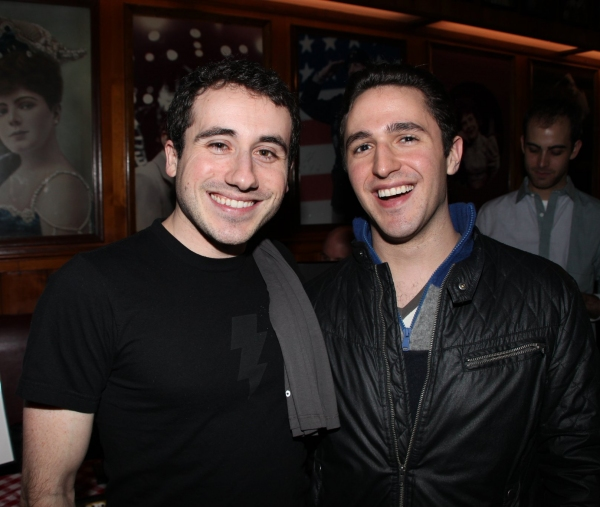 Russell Fischer & Taylor Sternberg  at JERSEY BOYS celebrates Five Years on Broadway with Fans!