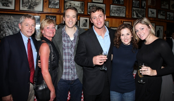 John Hickman, Katie O'Toole & fans attending at JERSEY BOYS celebrates Five Years on Broadway with Fans!