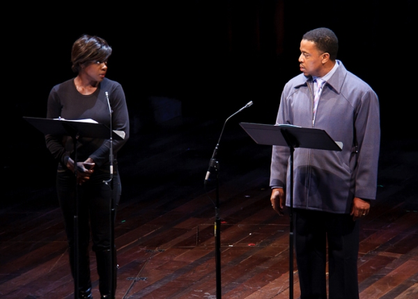 Viola Davis, Russell Hornsby at Davis, Olivo et al. Honor Nottage with Steinberg Playwright Prize