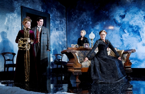 Cathy Belton, Marty Rea, Lindsay Duncan and Fiona Shaw in the Abbey Theatre production of JOHN GABRIEL BORKMAN by Henrik Ibsen in a new version by Frank McGuinness, directed by James Macdonald, on the Abbey stage, 6 October to 20 November 2010. Pic by Ros