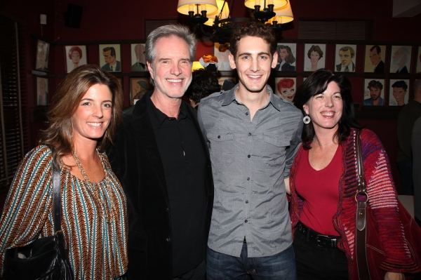 Bob Guardio with his daughters Danielle & Lisa with actor Ryan Jesse