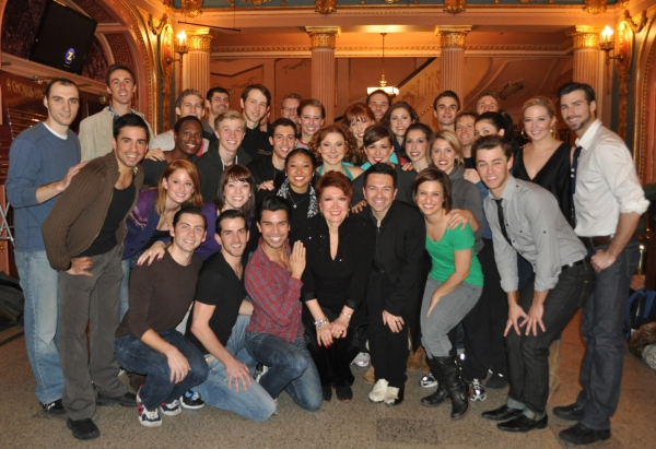 The Company of A Chorus Line with Donna McKechnie and Associate Choreographer Luis Villabon