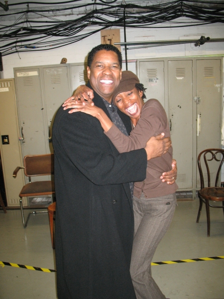 Photo Flash: Denzel Washington Visits Cast of THE SCOTTSBORO BOYS