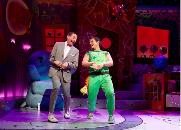 Paul Reubens as Pee-Wee Herman and Jesse Garcia as Sergio