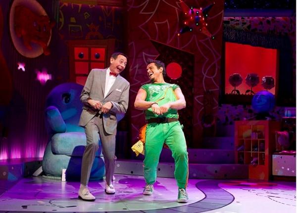 Paul Reubens as Pee-Wee Herman and Jesse Garcia as Sergio