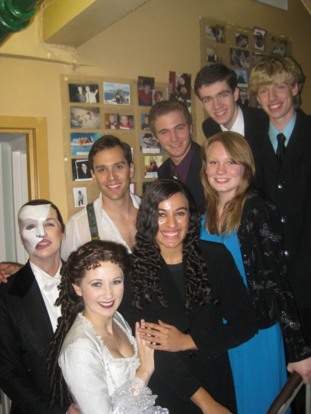 Photo Flash: High School PHANTOM Cast Visits Broadway Production