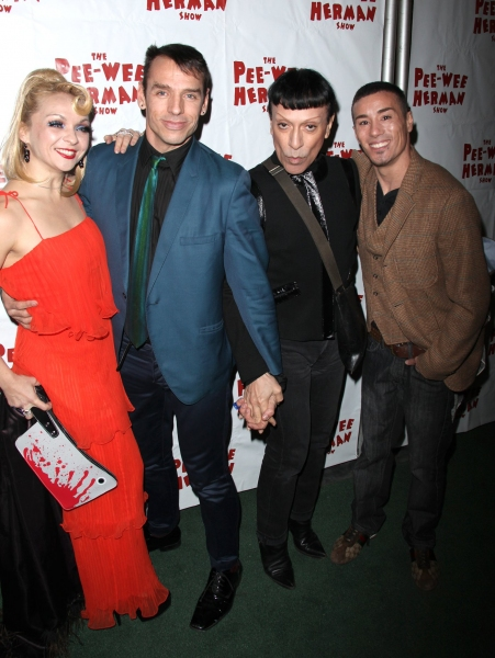 Basil Twist & Joey Arias with Guest at THE PEE-WEE HERMAN SHOW After Party!
