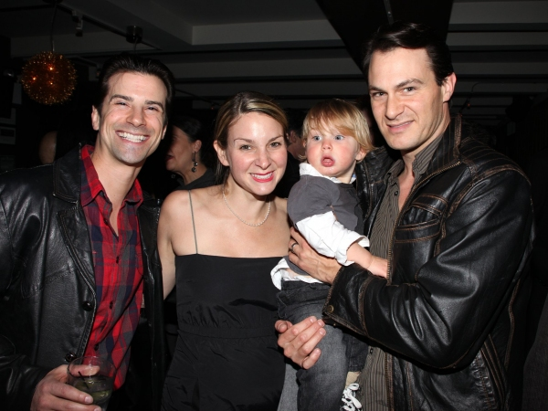 Dominic Nolfi, Matt Bogart with wife & son
