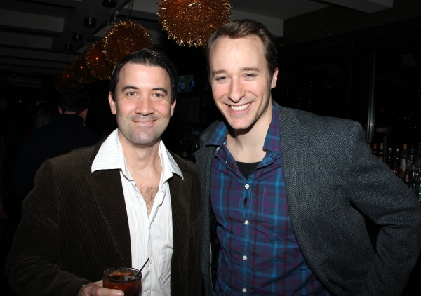 Miles Aubrey & John Hickman  at JERSEY BOYS Celebrates Five Years on Broadway at the Empire Hotel
