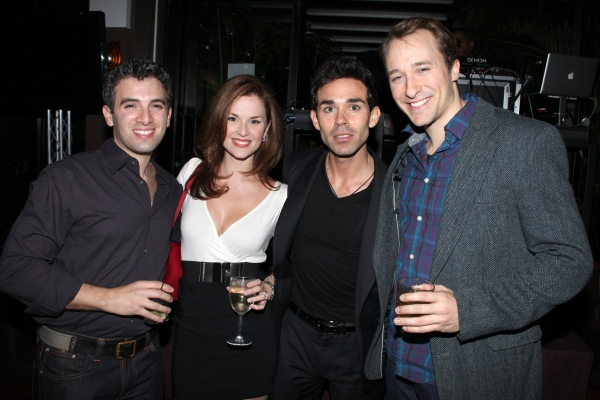 Jarrod Spector & Katie O'Toole, Doninic Scaglione Jr., John Hickman  at JERSEY BOYS Celebrates Five Years on Broadway at the Empire Hotel