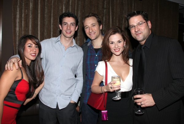 Guest, Scott J. Campbell, John Hickman, Katie O'Toole & Guest  at JERSEY BOYS Celebrates Five Years on Broadway at the Empire Hotel