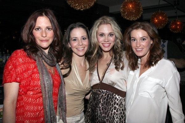 Bridget Berger, Sara Schmidt, Jessica Rush & guest  at JERSEY BOYS Celebrates Five Years on Broadway at the Empire Hotel