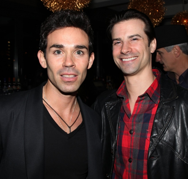Dominic Scaglione Jr. & Dominic Nolfi  at JERSEY BOYS Celebrates Five Years on Broadway at the Empire Hotel