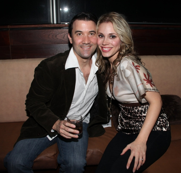 Miles Aubrey & Jessica Rush  at JERSEY BOYS Celebrates Five Years on Broadway at the Empire Hotel