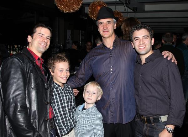 Dominic Nolfi, Mark Lotito with sons & Jarrod Spector