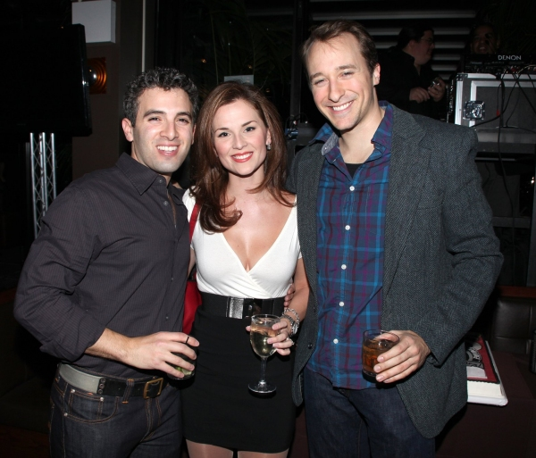 Jarrod Spector & Katie O'Toole, John Hickman at JERSEY BOYS Celebrates Five Years on Broadway at the Empire Hotel