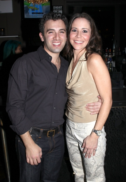 Jarrod Spector & Sara Schmidt at JERSEY BOYS Celebrates Five Years on Broadway at the Empire Hotel