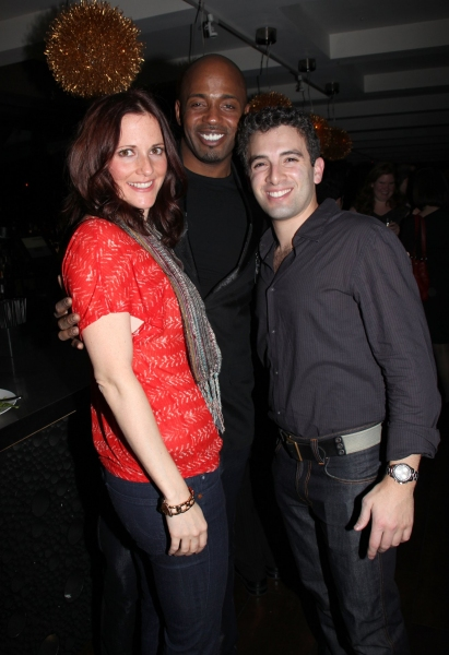 Bridget Berger, Kris Coleman & Jarrod Spector at JERSEY BOYS Celebrates Five Years on Broadway at the Empire Hotel