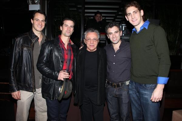 Matt Bogart, Dominic Nolfi, Frankie Valli, Jarrod Spector & Ryan Jesse Photo