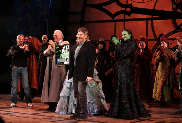 Producer Marc Platt, P.J. Benjamin, Katie Rose Clarke, Mandy Gonzalez, Composer Stephen Schwartz at 'WICKED' Receives RIAA Double Platinum Certification