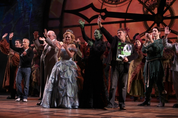 Producer Marc Platt , Mandy Gonzalez, Composer Stephen Schwartz & Katie Rose Clarke at 'WICKED' Receives RIAA Double Platinum Certification