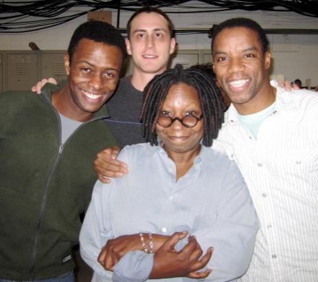 Josh Breckenridge, Paul Masse, Whoopi Goldberg and Rodney Hicks
