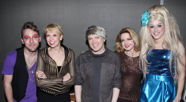 Austin Helms, Stars from 'The Divine Sister' Julie Halston, Charles Busch & Alison Fraser with Hostess Paige Turner  at 'So You Think You Can Drag' - The Judges