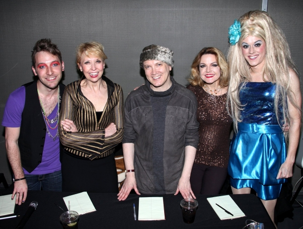 "Austin Helms, Stars from ""The Divine Sister"" Julie Halston, Charles Busch & Alison Fraser with Hostess Paige Turner"