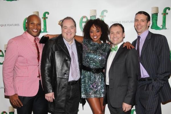 Michael James Scott, Blake Hammond, Asmeret Ghebremichael, Lee Wilkins and Matt Loehr at ELF Opening Night Party