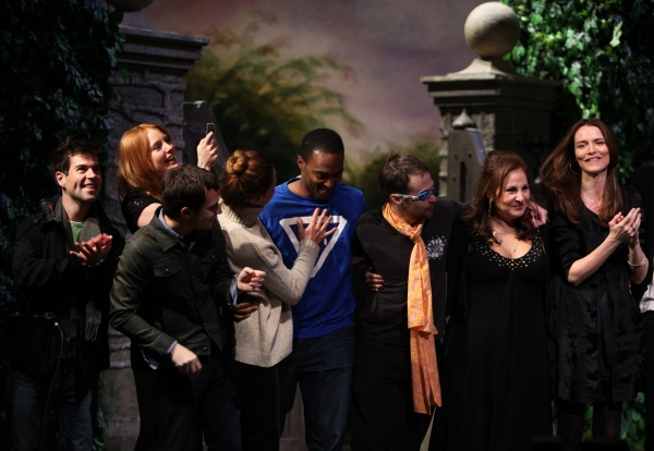 Elijah Wood, Alicia Witt, Diane Neal, Anthony Mackie, Sam Rockwell, Kathy Najimy & Saffron Burrows at The 10th Annual 24 HOUR PLAYS on Broadway!