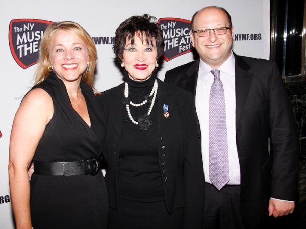Sharon Fallon, Chita Rivera, and Isaac Robert Hurwitz