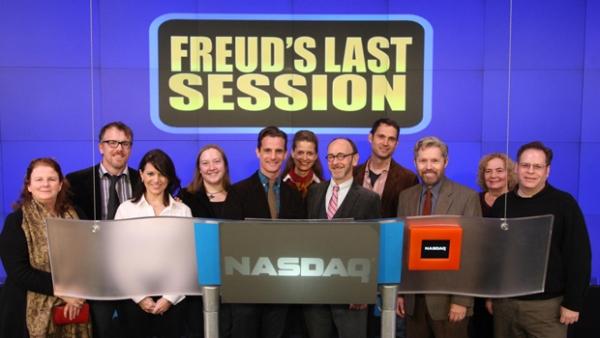 Photo Flash: FREUD'S LAST SESSION Stars Ring NASDAQ Closing Bell