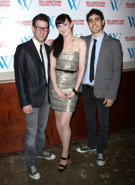 Nick Blaemire, Celina Carvajal, and Damon Daunno at Williamstown Theatre Festival Benefit