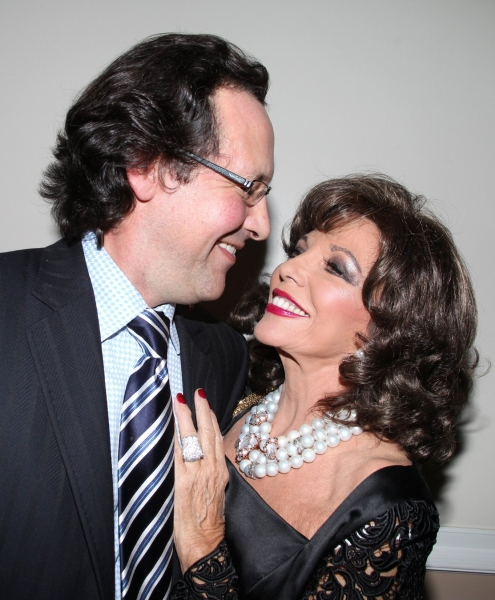 Joan Collins with husband Percy Gibson Photo
