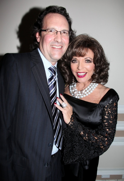 Joan Collins with husband Percy Gibson