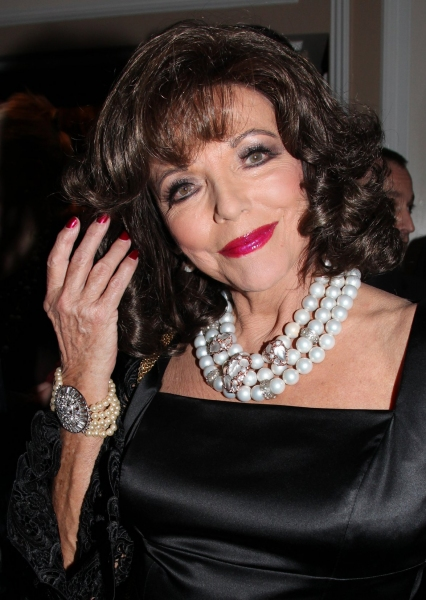 Joan Collins at  Joan Collins Celebrates Feinstein's Opening