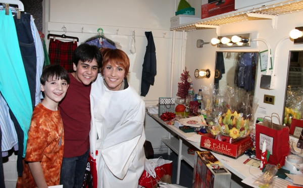 Lisa Gajda (Gypsy Robe Recipient for Elf) with Matthew Schechter & Matthew Gumley