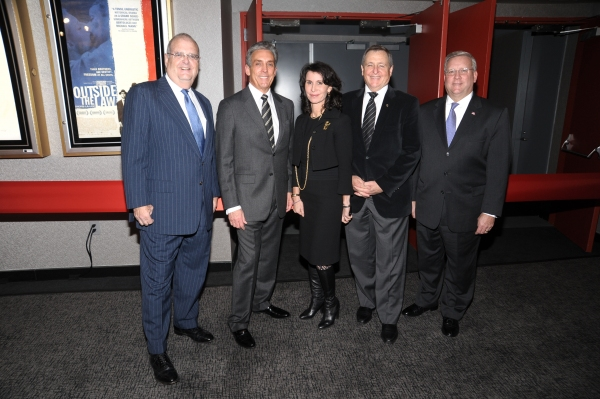 Roger Goldman, Charles Cohen, Katherine Oliver, Tom Sherak and Mark Ackermann at Minnelli, Dahl & More Attend Lighthouse Int'l Grand Re-opening Ceremony