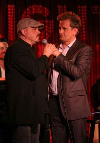 "Legendary songwriter/producer Walter Afanasieff and Producer Chris Isaacson at Upright Cabaret's ""It Gets Better"" concert"