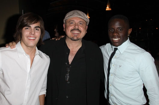 "Danny Jones, Walter Afanasieff & Tapiwa Mugadza at Upright Cabaret's ""It Gets Better"" concert"
