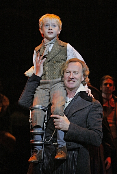 Daniel Gerroll (Ebenezer Scrooge) and Noah Ross
