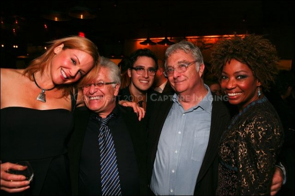 Storm Large, Director Jerry Zaks, cast member Ryder Bach, Composer/Lyricist Randy Newman and cast member Adriane Lenox at HARPS & ANGELS at the CTG/Mark Taper Forum
