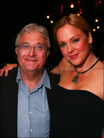 Randy Newman (L) and cast member Storm Large