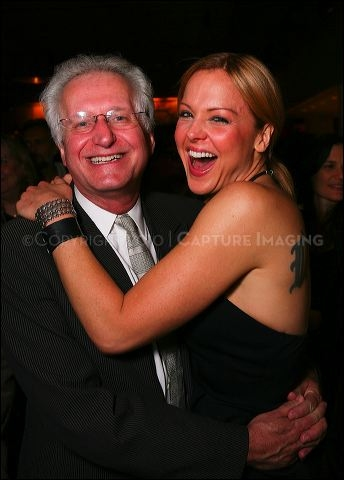 Jack Viertel (L) and cast member Storm Large