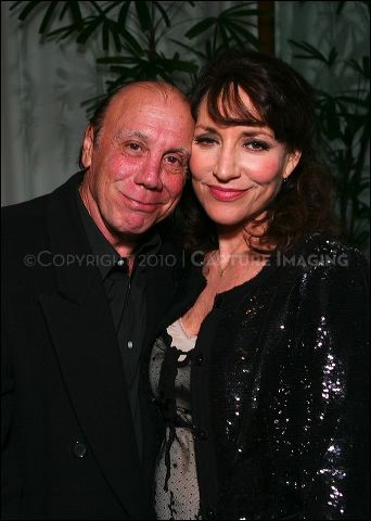 Dayton Callie (L) and cast member Katey Sagal